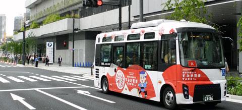 北西部ルートを走行する区内循環バス